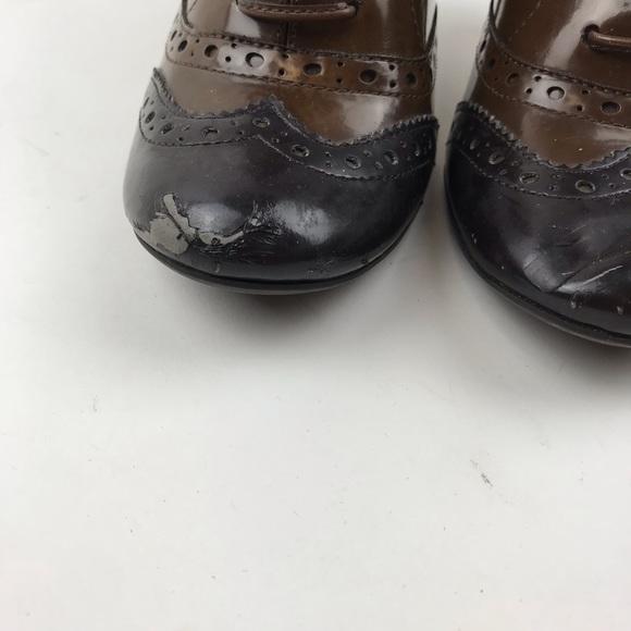 021ca377b4b9c Tahari Melody Brown Oxford Style Heels. Tahari. M_5bbac792aa5719e0c6916c23.  M_5bbac794f63eeaddd12e7962. M_5bbac795bb7615f0d00cdb65